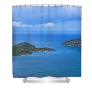 Tropical Islands In The Caribbean Sea Shower Curtain