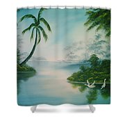 Tropical Lagoon Shower Curtain