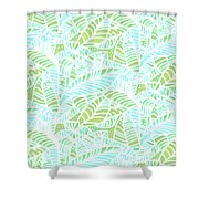 Tropical Lagoon Leaves Shower Curtain