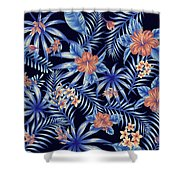 Tropical Leaf Pattern 4 Shower Curtain