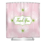 Tropical Leaf Thank You- Art By Linda Woods Shower Curtain