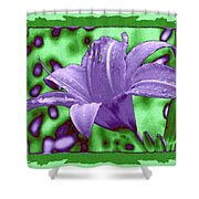 Tropical Lily 4 Shower Curtain