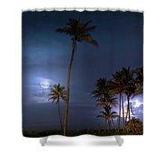 Tropical Moon Shower Curtain