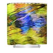 Tropical Mosaic Abstract Art Shower Curtain