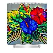 Tropical Neon Boutique  Shower Curtain