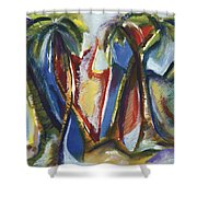 Tropical Palm Rhumba Shower Curtain