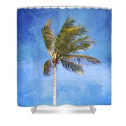 Tropical Palm Tree Shower Curtain