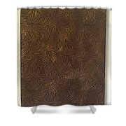 Tropical Palms Canvas Bronze - 16x20 Hand Painted Shower Curtain