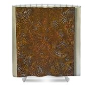 Tropical Palms Canvas Copper Silver Gold - 16x20 Hand Painted Shower Curtain