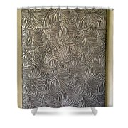 Tropical Palms Canvas Silver - 16x20 Hand Painted Shower Curtain