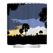 Tropical Palms Work Number Two Shower Curtain