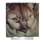 Tropical Panther Shower Curtain