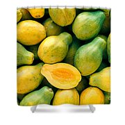 Tropical Papayas Shower Curtain