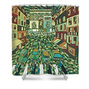 Tropical Paris Shower Curtain