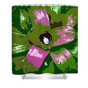 Tropical Plant Work Number 5 Shower Curtain
