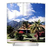 Tropical Plantation Shower Curtain