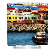 Tropical Port Shower Curtain