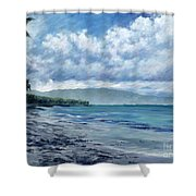 Tropical Rain Shower Curtain