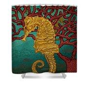 Tropical Seahorses Shower Curtain