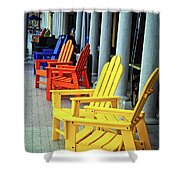 Tropical Seating Shower Curtain