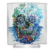 Tropical Skull 2 Shower Curtain