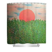 Tropical Spring Shower Curtain