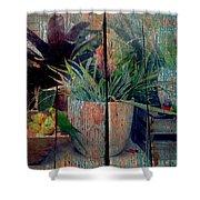 Tropical Still Life Shower Curtain