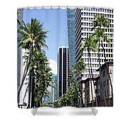 Tropical Street Shower Curtain