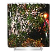 Tropical Streetlight Shower Curtain