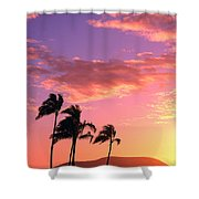 Tropical Sunrise Shower Curtain