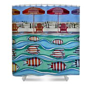Tropical Sycronicity Shower Curtain