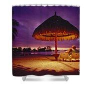 Tropical Tahitian View Shower Curtain