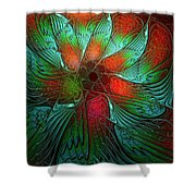 Tropical Tones Shower Curtain