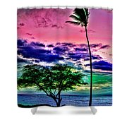 Tropical Trees Shower Curtain