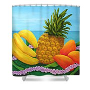 Tropical Trinity Shower Curtain