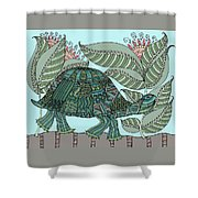 Tropical Turtle Shower Curtain