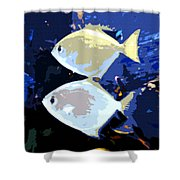 Tropical Twins Shower Curtain