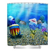 Tropical Vacation Under The Sea Shower Curtain