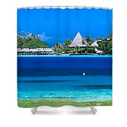 Tropical Views, Shower Curtain