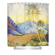 Tropical Vintage Hawaii Shower Curtain