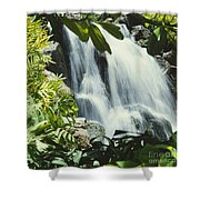 Tropical Waterfall Shower Curtain