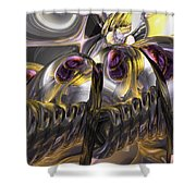 Tropical Wind Abstract Shower Curtain