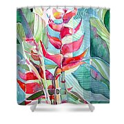 Tropicana Red Shower Curtain