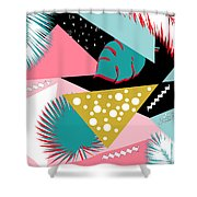 Tropics Colors  Shower Curtain