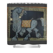 Trotter I Shower Curtain