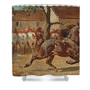 Trotting A Horse Shower Curtain