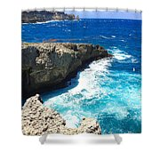Trou Madame Coco, Guadeloupe Shower Curtain