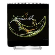 Trouble In Paradise Shower Curtain