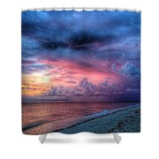 Troubling Skies Shower Curtain