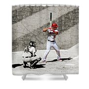Trout At Bat Shower Curtain